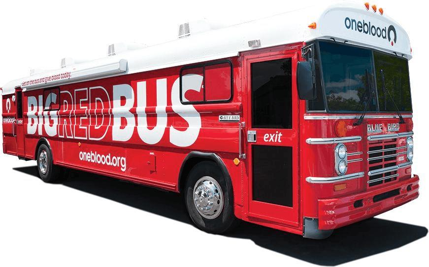 OneBlood's Big Red Bus